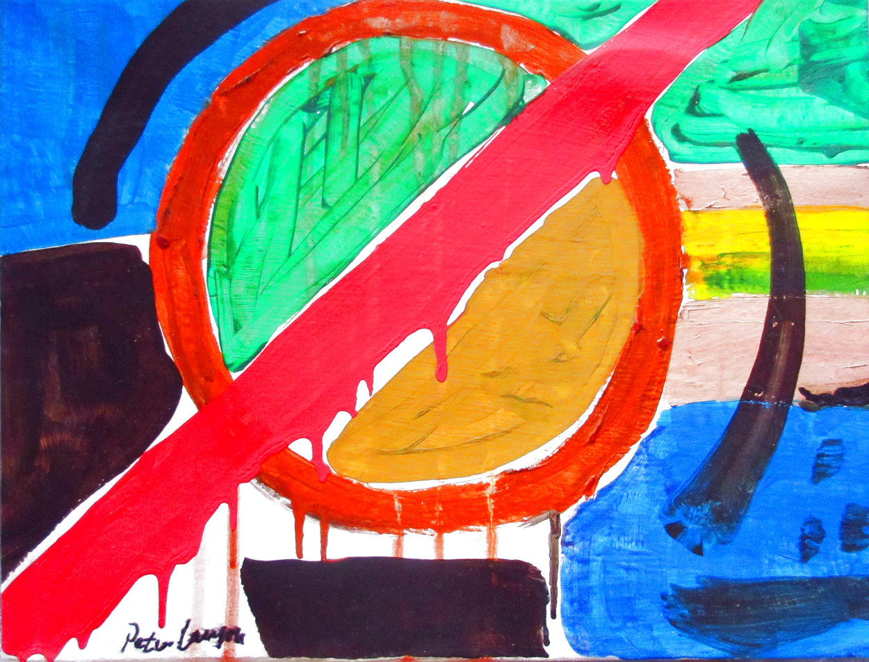 Abstract 13x17 Original Painting by Peter Lanyon