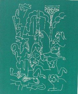 La Femme Aux Chiens 1959 Limited Edition Print by Charles Lapicque