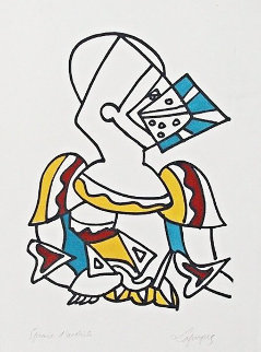 Untitled (Knight) 1959  Limited Edition Print by Charles Lapicque