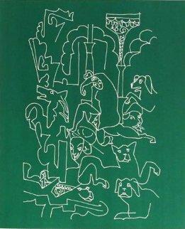 La Femme Aux Chiens 1959 Limited Edition Print - Charles Lapicque
