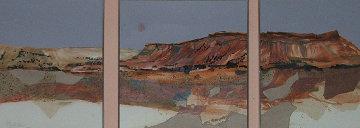 Mauve Mesa 1984 28x69 Watercolor - Hal Larsen