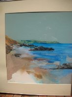 Beach Diptych 1985 29x27 Original Painting by Hal Larsen - 4