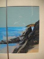 Beach Diptych 1985 29x27 Original Painting by Hal Larsen - 5