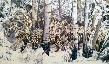 In the Company of Wolves Limited Edition Print by Judy Larson