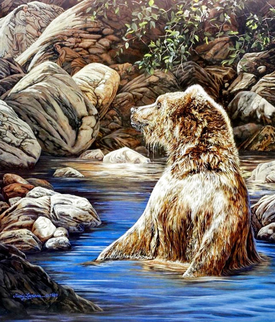 Bearly Seen 1989 Limited Edition Print by Judy Larson