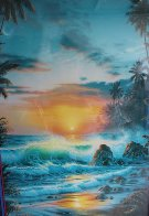Island Sunrise 1996  Embellished  Limited Edition Print by Christian Riese Lassen - 1
