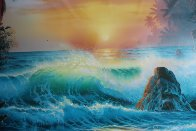 Island Sunrise 1996  Embellished  Limited Edition Print by Christian Riese Lassen - 4