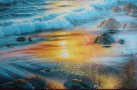 Island Sunrise 1996  Embellished  Limited Edition Print by Christian Riese Lassen - 3