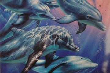 Dolphin Quest 2 1991 Limited Edition Print by Christian Riese Lassen