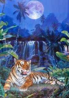 Eye of the Tiger  Embellished 1998 Limited Edition Print by Christian Riese Lassen