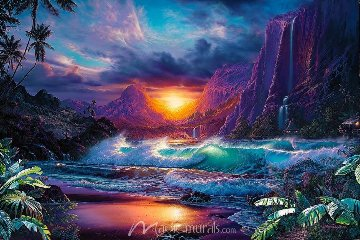Secret Place Embellished 2004 Limited Edition Print by Christian Riese Lassen