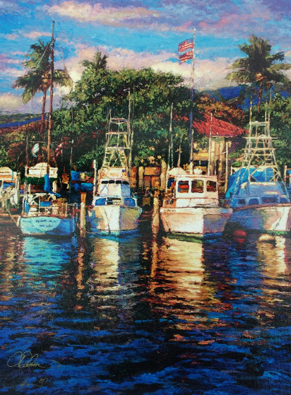 Lahaina Harbor Shores 2007 Limited Edition Print by Christian Riese Lassen