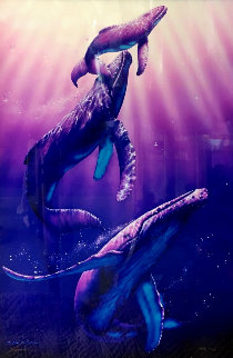 Whale Dance 1997 Limited Edition Print by Christian Riese Lassen