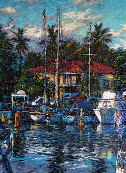 Lahaina Reflections 1988 Limited Edition Print by Christian Riese Lassen