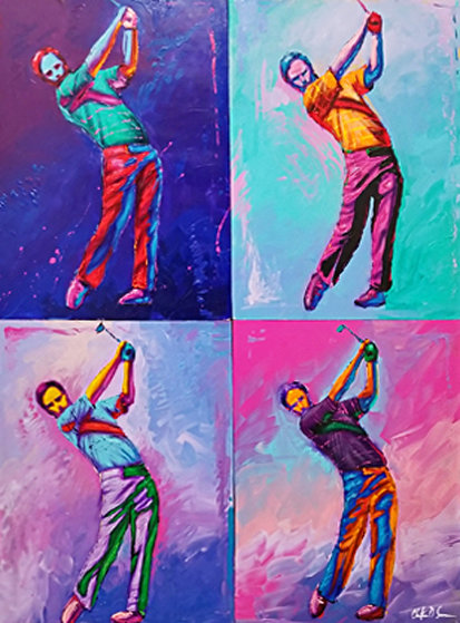 Foreplay Quadriptych 60x48 Original Painting by Christian Riese Lassen