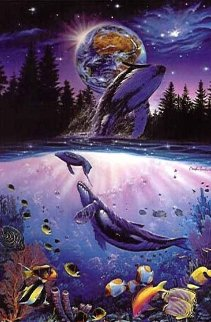 Whale Star AP 1993 Huge Limited Edition Print - Christian Riese Lassen