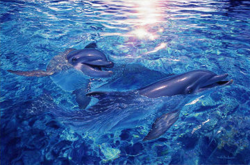 Togetherness AP 2001 w Diamonds Limited Edition Print by Christian Riese Lassen