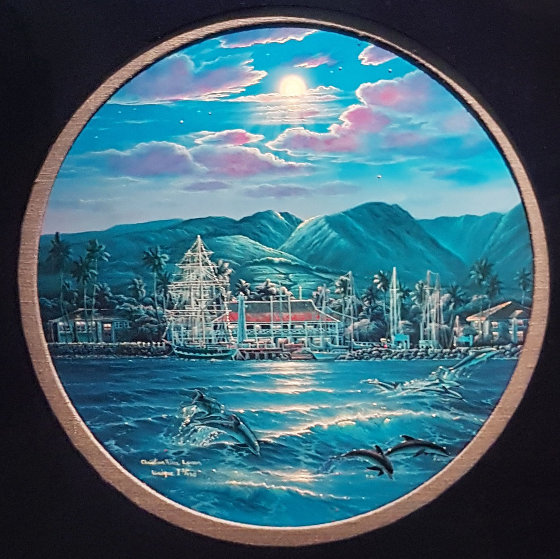 Maui With Dolphins, With Diamonds 1984 Limited Edition Print by Christian Riese Lassen
