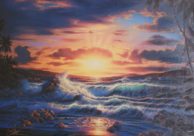 Island Romance 1994 Limited Edition Print by Christian Riese Lassen