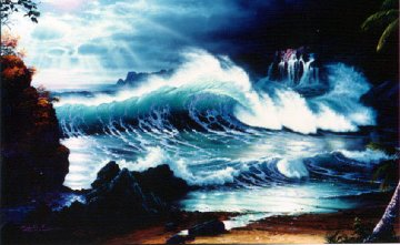 Cliffs of Kapalua AP 1992 Limited Edition Print - Christian Riese Lassen