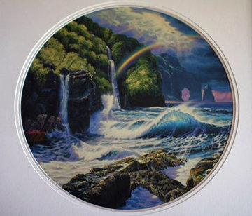 Falls of Hana AP 1992 Limited Edition Print by Christian Riese Lassen