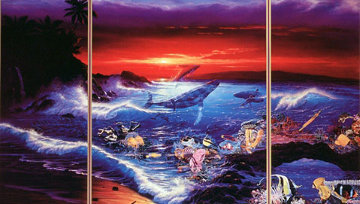 Sea Vision Triptych 1990 Limited Edition Print by Christian Riese Lassen