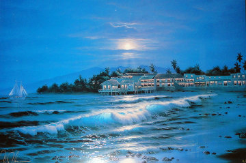 Peaceful Lahaina Eve 1985 Limited Edition Print by Christian Riese Lassen