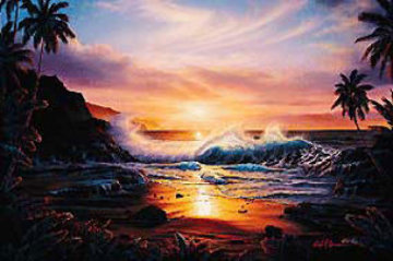 Maui Gold 1985 Limited Edition Print - Christian Riese Lassen