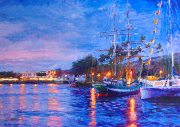 Reflections of Lahaina AP 2001 Limited Edition Print - Christian Riese Lassen