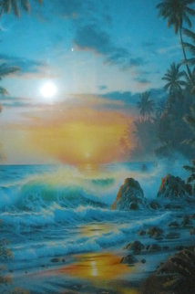 Island Sunrise 1995 Limited Edition Print by Christian Riese Lassen