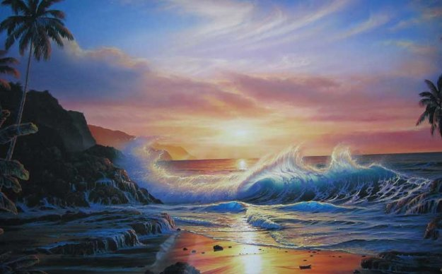 Maui Gold 1992 Limited Edition Print by Christian Riese Lassen