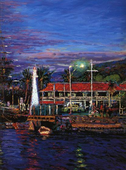 Lahaina Impressions Maui W Remarque 1990 By Christian