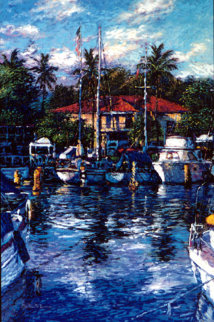Lahaina Reflections, Maui 1988 Limited Edition Print by Christian Riese Lassen