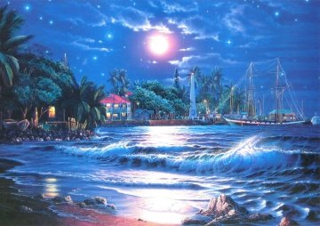Lahaina Starlight  I  1999 Limited Edition Print - Christian Riese Lassen