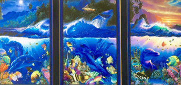 Beyond the Reef Triptych 2000 Limited Edition Print - Christian Riese Lassen
