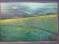 Molokai Ranch, Hawaii 1985 70x80 Super Huge  Original Painting by Christian Riese Lassen - 1