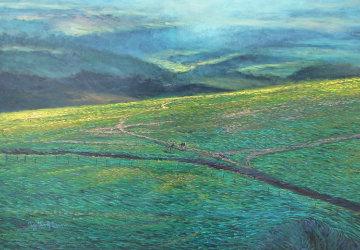 Molokai Ranch, Hawaii 1985 70x80 Huge  Original Painting - Christian Riese Lassen