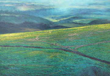 Molokai Ranch, Hawaii 1985 70x80 Super Huge  Original Painting - Christian Riese Lassen