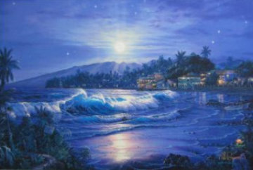 Moonlit Cove 2005 Embellished Limited Edition Print - Christian Riese Lassen