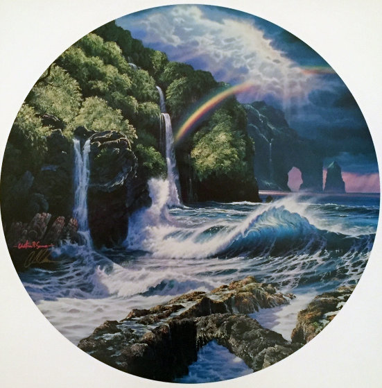 Falls of Hana 1992  (Maui) Limited Edition Print by Christian Riese Lassen
