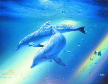 Dolphins of the Rainbow AP Limited Edition Print - Christian Riese Lassen
