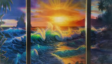 Hawiian Dawn 1990 Limited Edition Print by Christian Riese Lassen