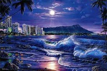 Waikiki Romance 1990 Limited Edition Print - Christian Riese Lassen