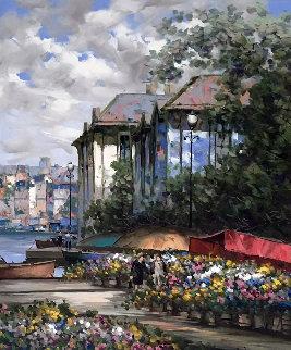 Belgian Bloom 1997 48x36 Original Painting by Pierre Latour