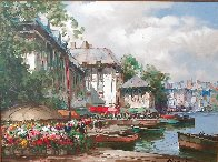 Festival on the Canal 1997 38x48 Original Painting by Pierre Latour - 1