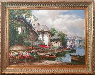 Festival on the Canal 1997 38x48 Original Painting by Pierre Latour - 2