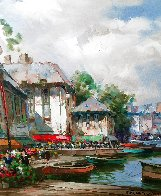Festival on the Canal 1997 38x48 Original Painting by Pierre Latour - 6