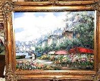 Flower Market 40x51 Huge Original Painting by Pierre Latour - 1
