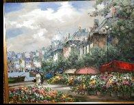 Flower Market 40x51 Huge Original Painting by Pierre Latour - 2