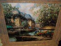 French Landscape 1990 36x26 Original Painting by Pierre Latour - 3